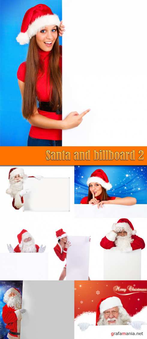 Santa and billboard 2