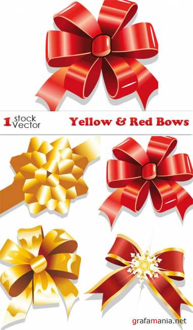 Yellow & Red Bows Vector