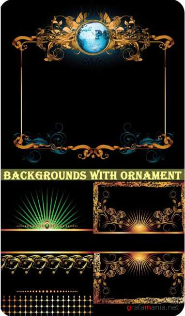 Backgrounds with Ornaments 4