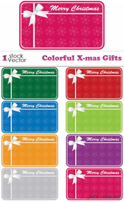 Colorful X-mas Gifts Vector
