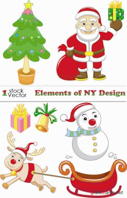 Elements of NY Design Vector