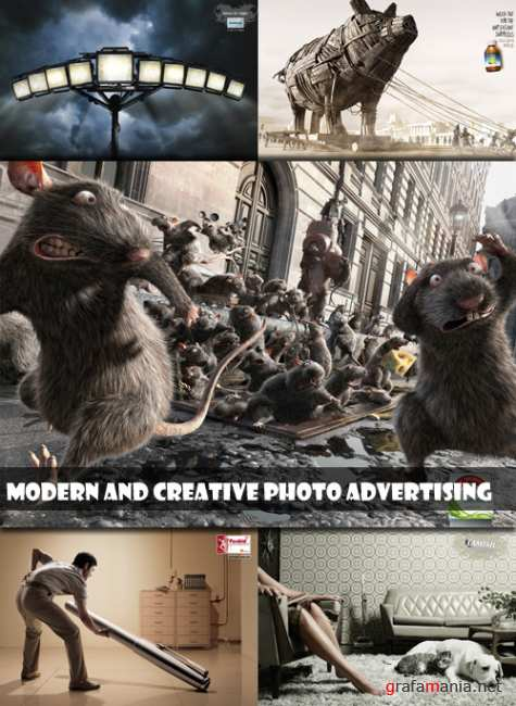 Modern and creative photo advertising