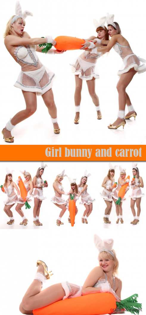 Girl bunny and carrot