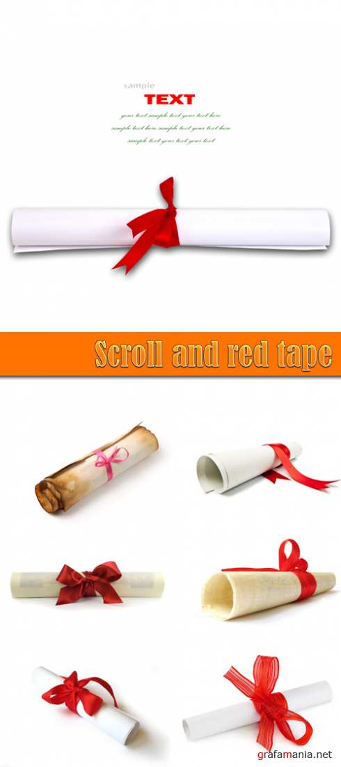 Scroll and red tape