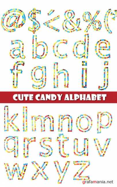 Cute candy alphabet