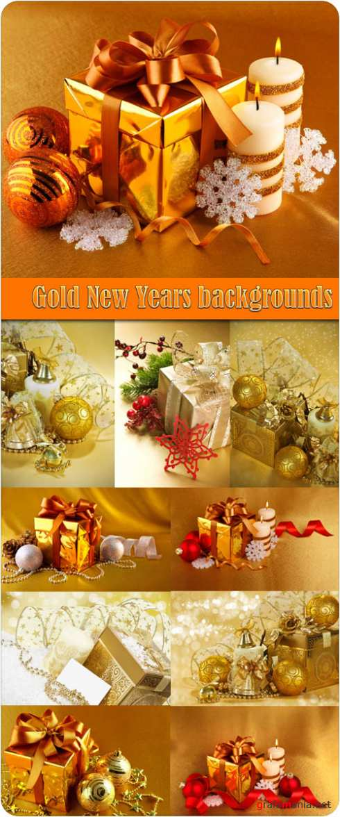 Gold New Years backgrounds