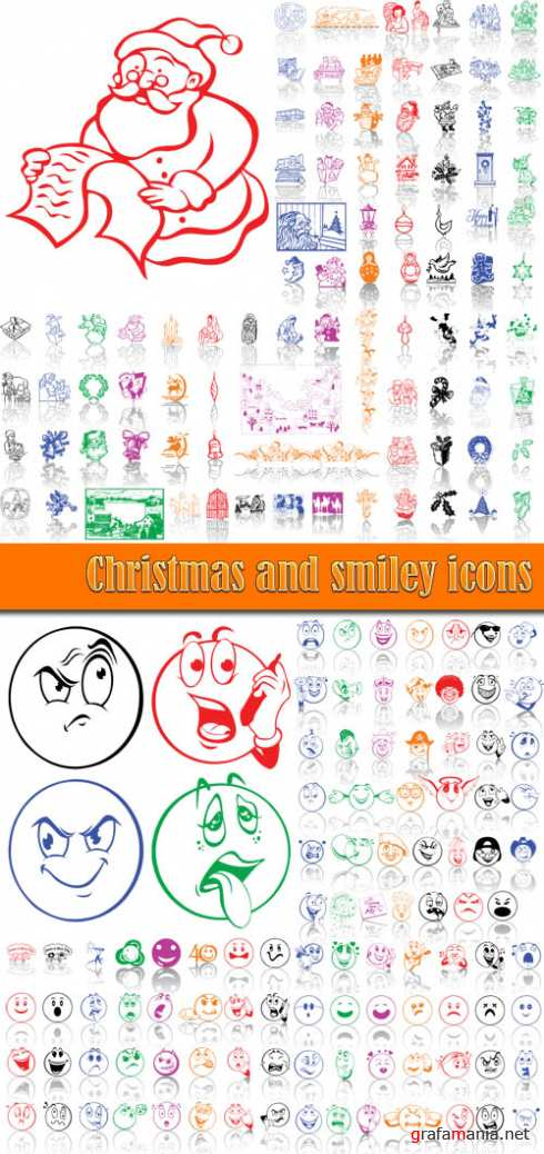 Christmas and smiley icons