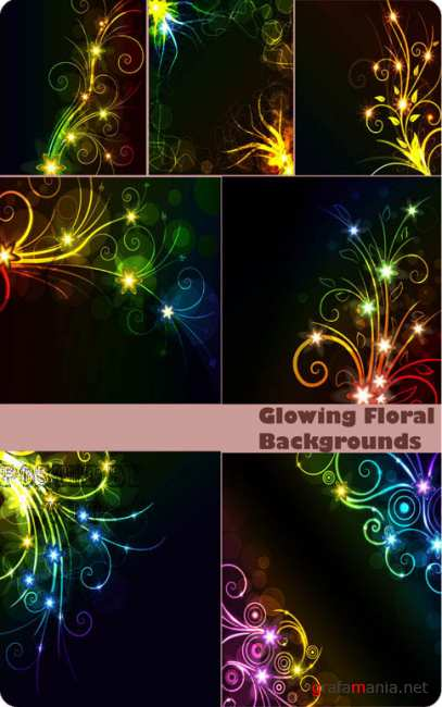 Glowing Floral Backgrounds 30