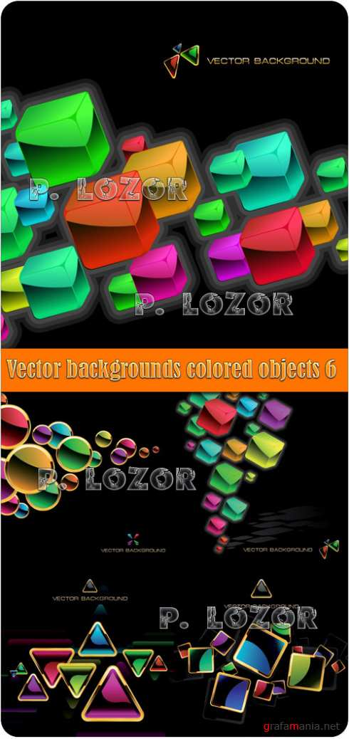 Vector backgrounds colored objects 6