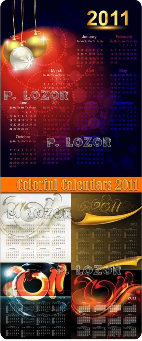 Colorful Calendars 2011
