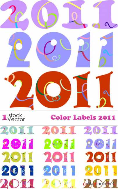 Color Labels 2011 Vector