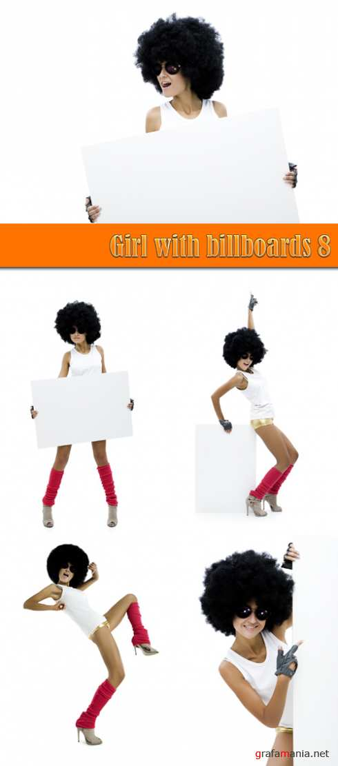 Girl with billboards 8