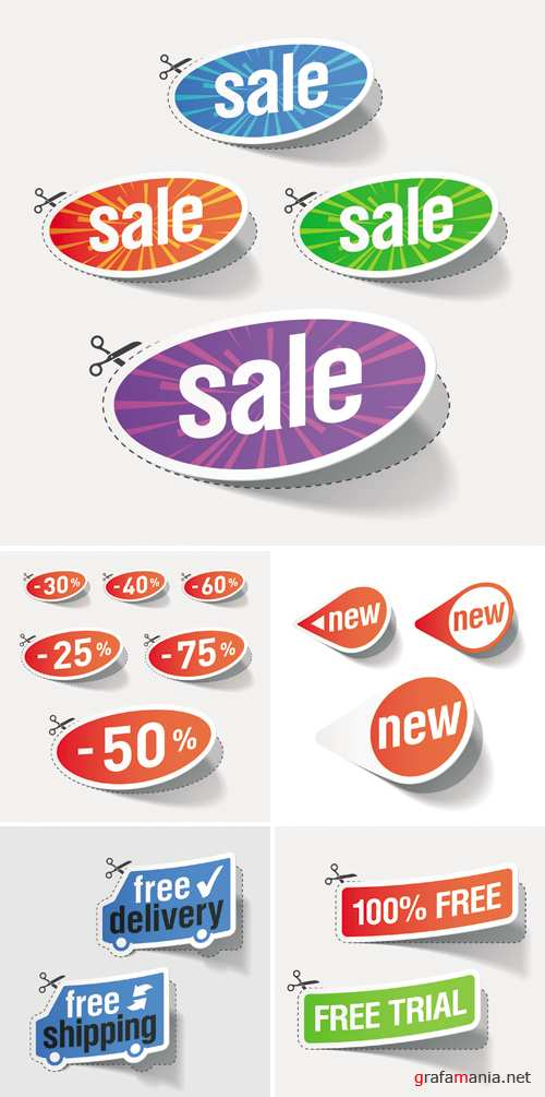 Sale Stickers Vector 2