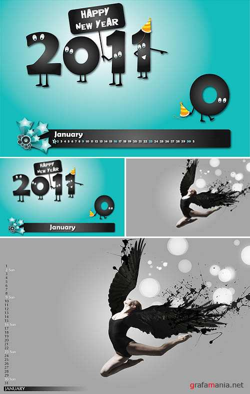 January 2011 Design Wallpapers