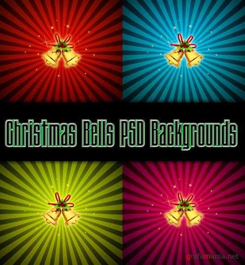 Christmas Bells PSD Backgrounds