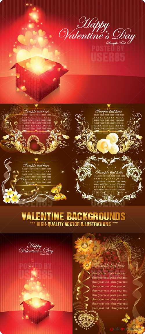 Stock Vector - Valentine Backgrounds