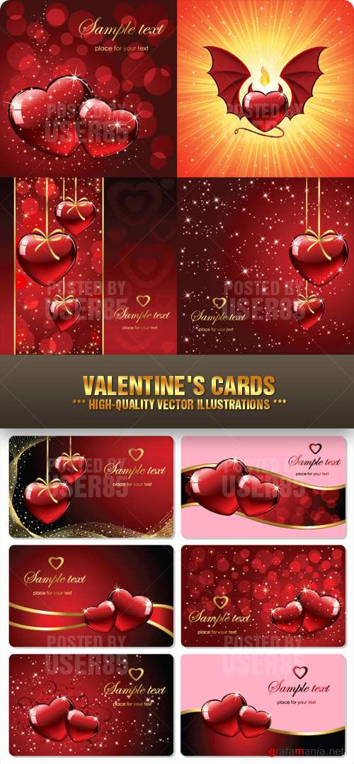 Stock Vector - Valentines Cards