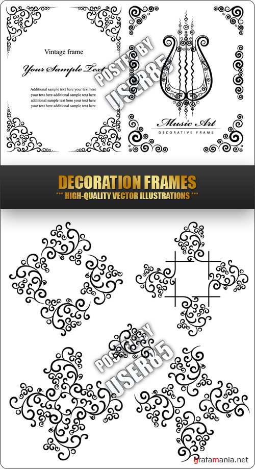 Stock Vector - Decoration Frames