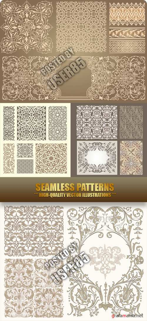 Stock Vector - Seamless Patterns