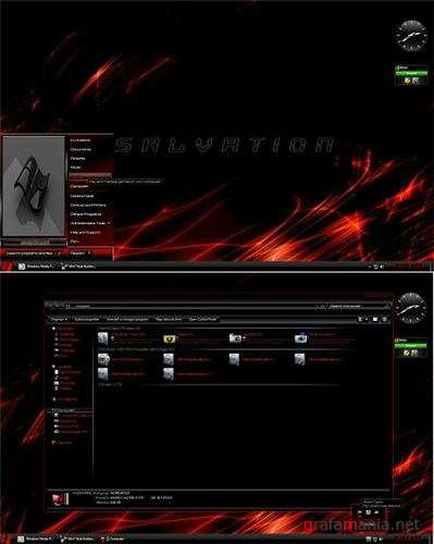 Red Salvation Dark Theme for Windows 7