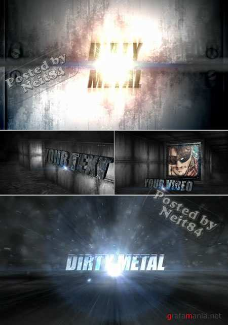 After Effects Project of Revostock Dirty Metal Text 120167