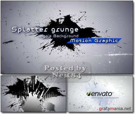 VideoHive motion Splatter grunge Logo's Background Filler