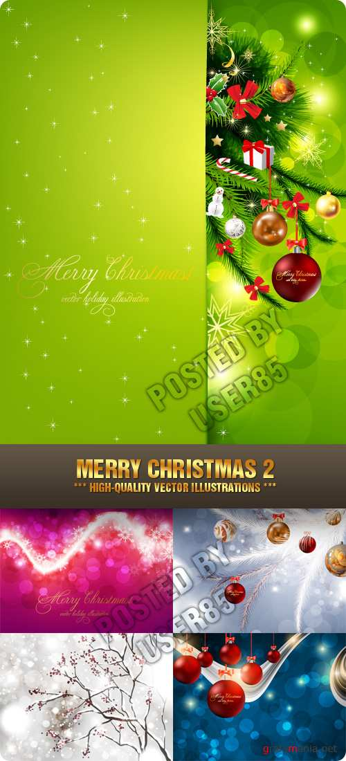 Stock Vector - Merry Christmas 2