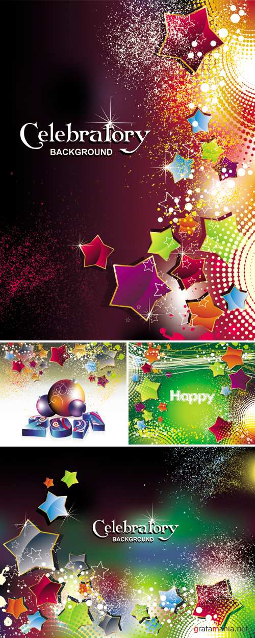 Celebratory Backgrounds Vector