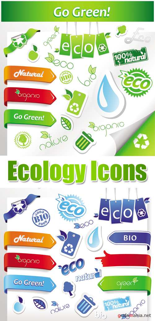 Ecology Icons Vector 3