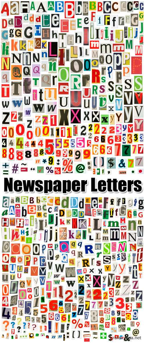 Stock Photo - Newspaper Letters