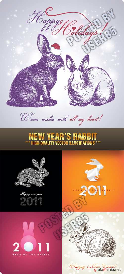 Stock Vector - New Year's Rabbit