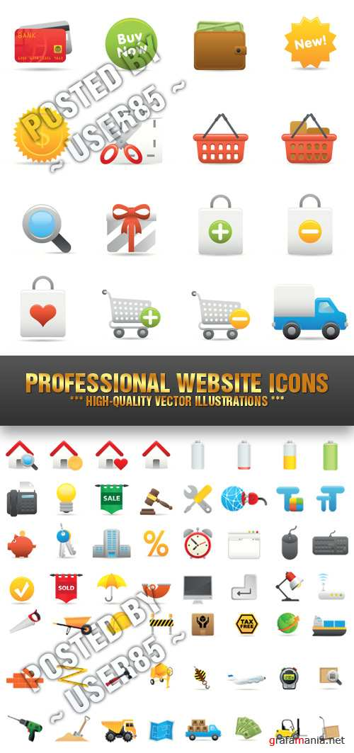Stock Vector - Professional Website Icons