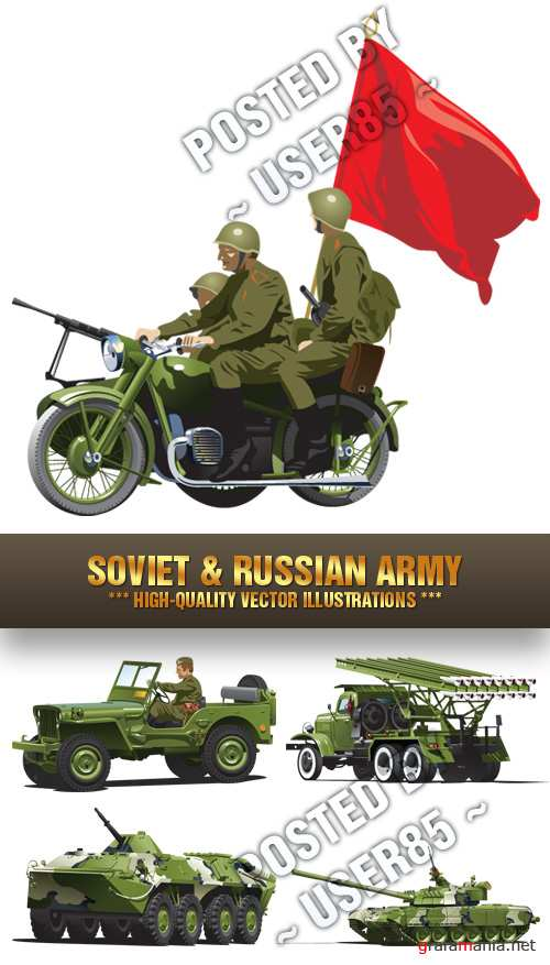 Stock Vector - Soviet & Russian Army