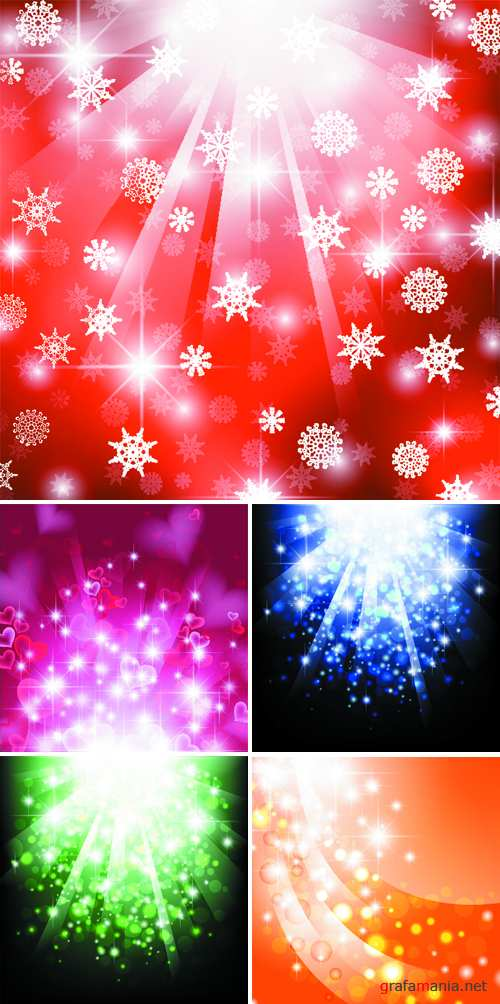 Bright Color Backgrounds Vector