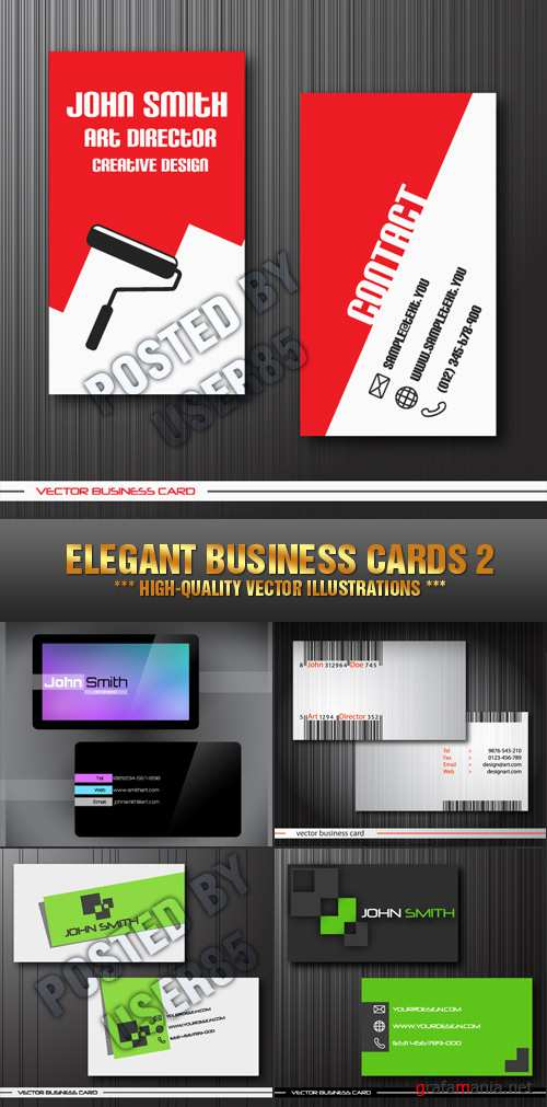 Stock Vector - Elegant Business Cards 2