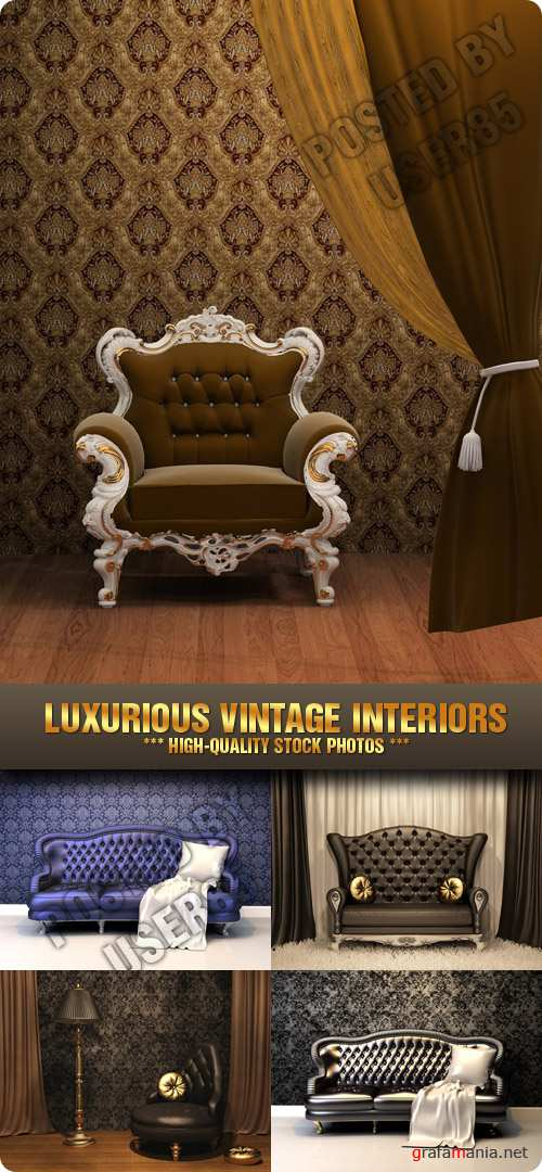 Stock Photo - Luxurious Vintage Interiors