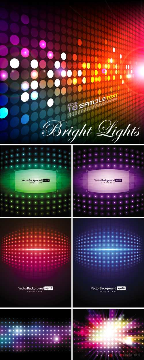 Bright Lights Backgrounds Vector