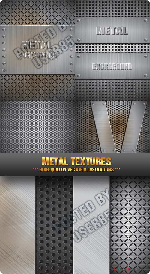 Stock Vector - Metal Textures