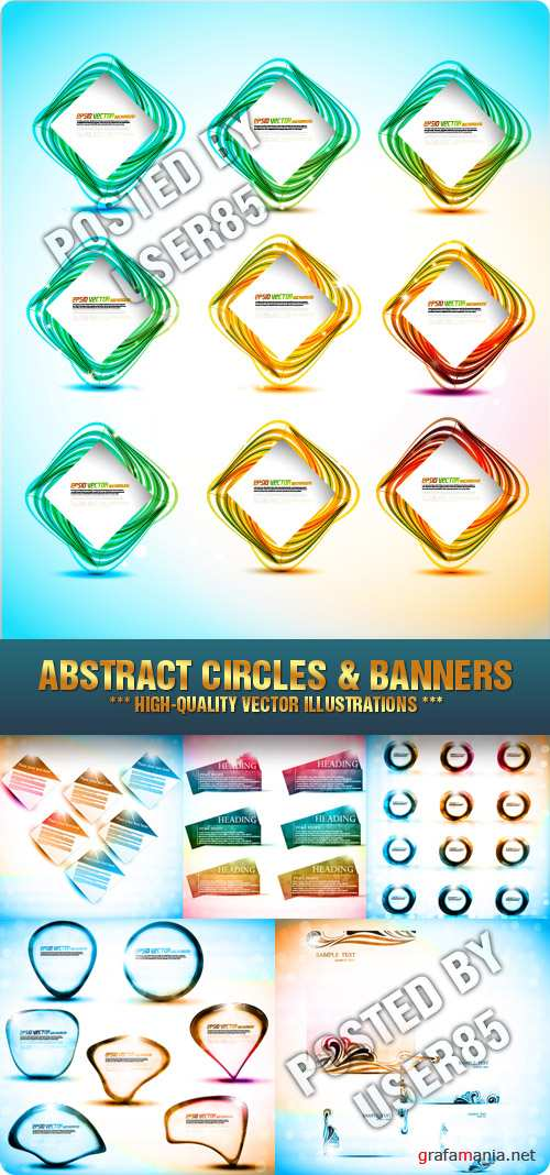 Stock Vector - Abstract Circles & Banners