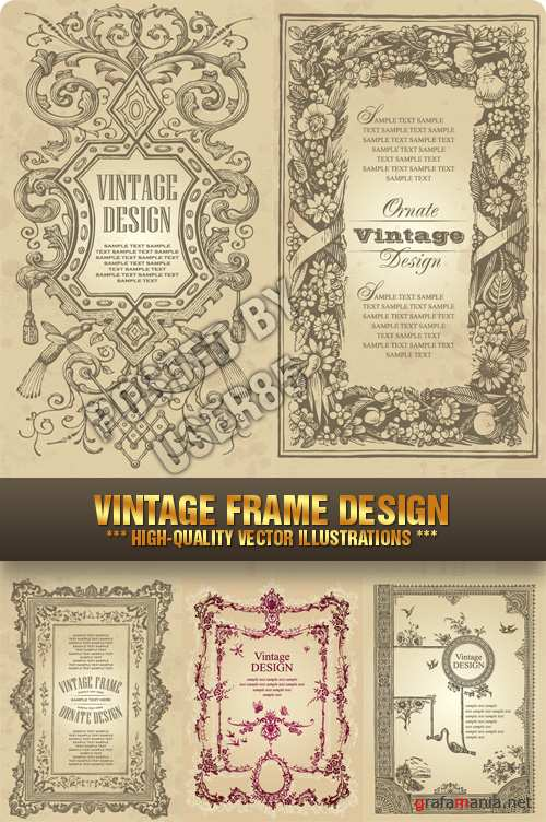 Stock Vector - Vintage Frame Design