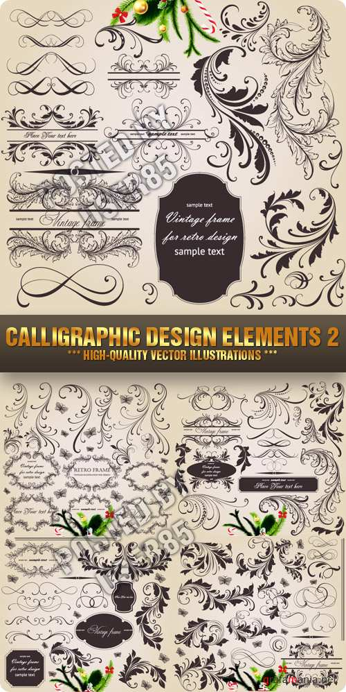 Stock Vector - Calligraphic Design Elements 2