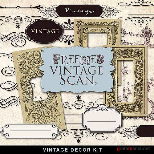 Клипарт – Vintage decor kit