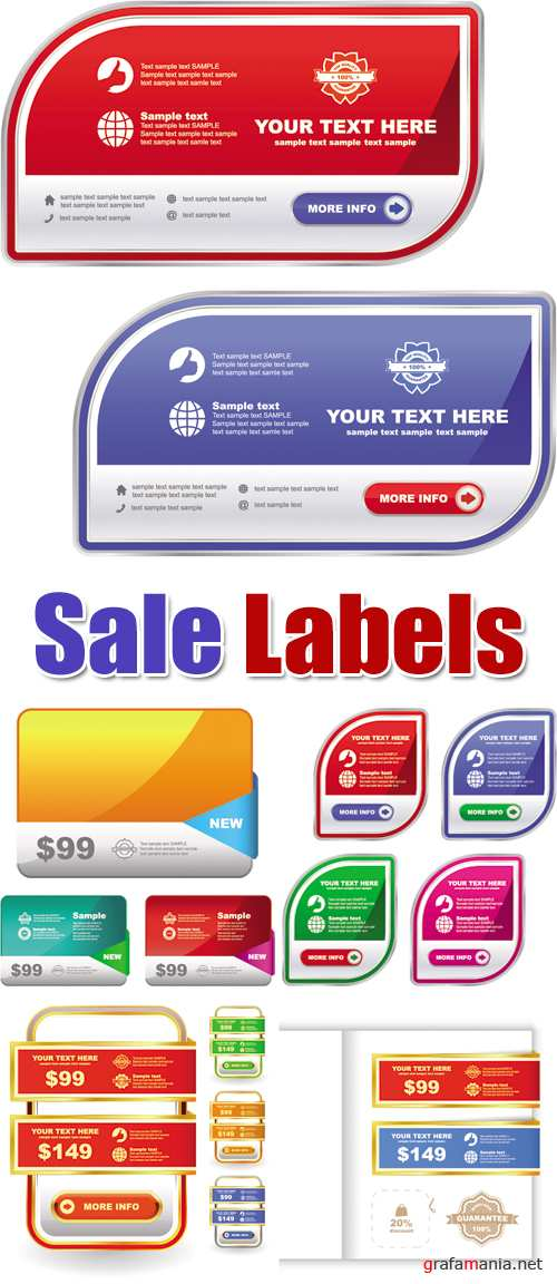 Sale Labels Vector 2