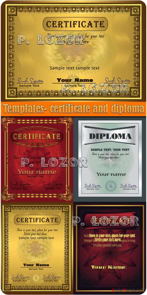 Templates - certificate and diploma