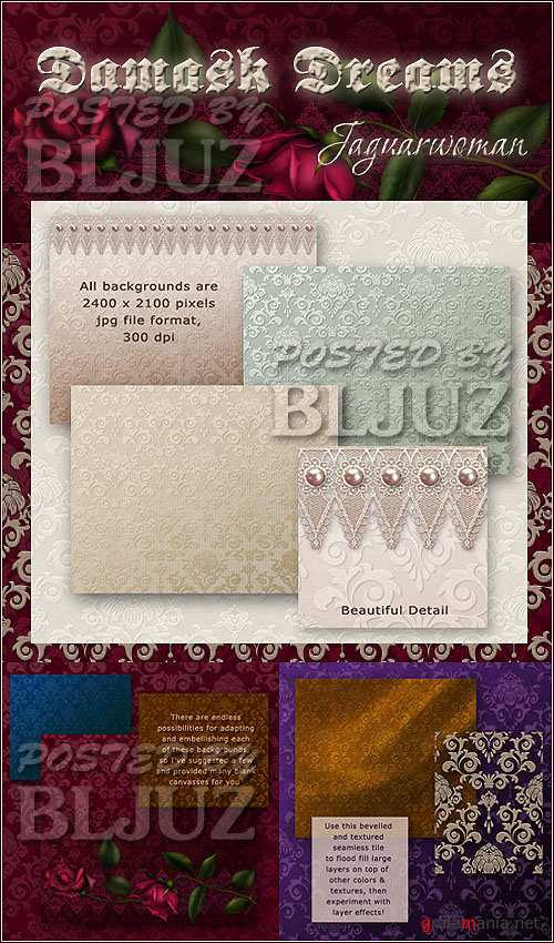 Damask Dreams Scrap