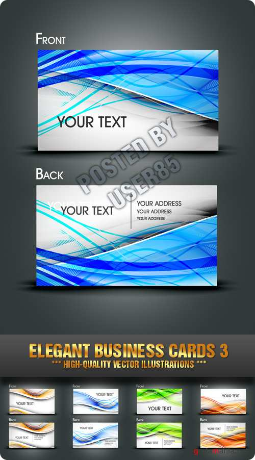 Stock Vector - Elegant Business Cards 3