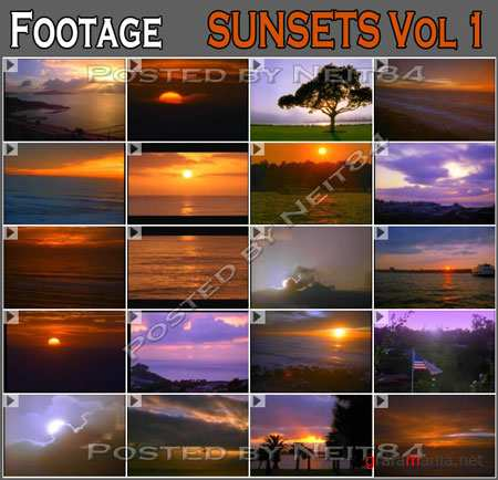 Footage Sunsets Vol1 of Filmdisc
