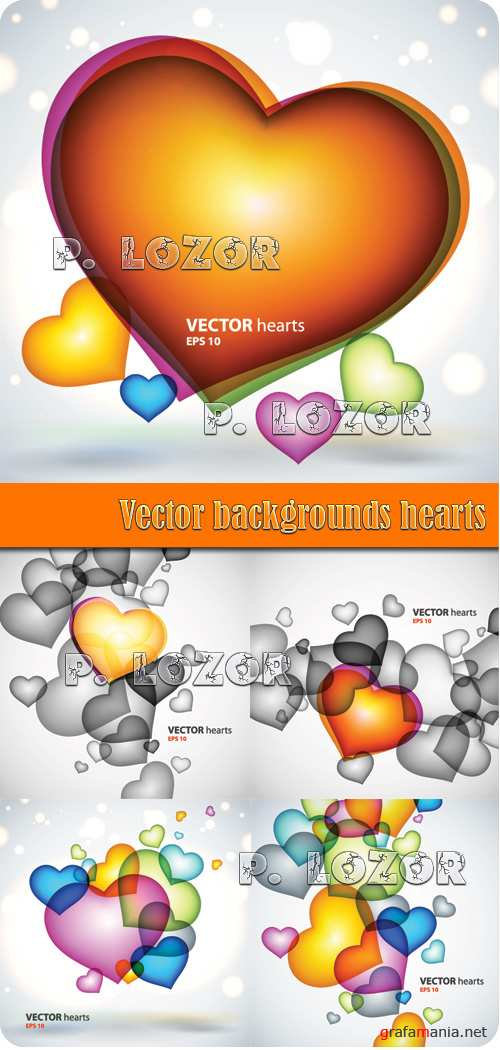 Vector backgrounds hearts