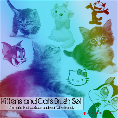 Кисти - Котята / Kittens and Cats - Brush Set