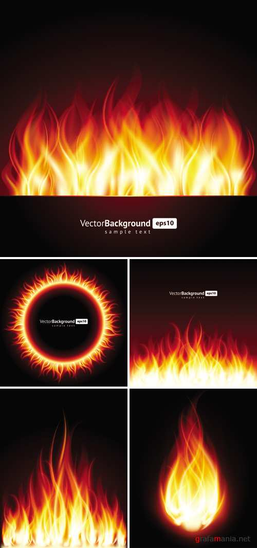 Fire Backgrounds Vector